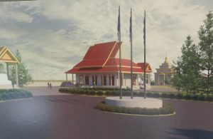 An artist rendition of part of the planned monastic complex