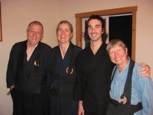 Working staff Tanzan, Sokei, Marco and Jokai – the wonderful Jisharyo team - who help in the zendo