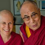 In 2013 His Holiness the Dalai Lama met in Portland with student and co-author Venerable Thubten Chodron, to discuss The Library of Wisdom and Compassion series.