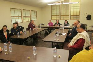 Representatives of several Western and Asian-origin dharma groups met together for the event.