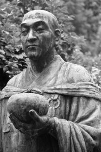 There are two versions of this statue of Ryokan at Olympia Zen Center.