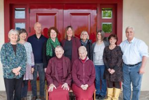 The Kagyu Sukha Choling board of directors, meeting with lamas Pema and Yeshe