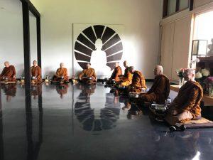 Meeting of North American abbots at Birken meditation hall, in June 2018