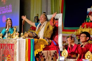 His Eminence Dzogchen Khenpo Choga Rinpoche conducts the Tara Drupchen in Portland