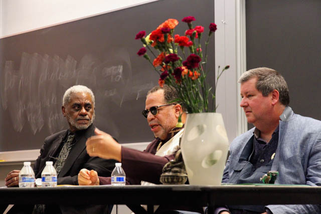 Northwest dharma leaders increasingly reflect the diversity of the region, such as this 2016 event at Seattle University featuring Lama Chonyin Rangdrol and Dr. Charles Johnson, both of African origin.