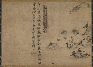 Hanshan and Shide, another famous Chinese Zen poet, who often are portrayed together