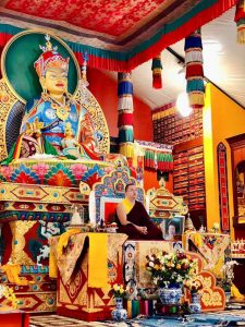 His Holiness Dudjom Rinpoche, Sangye Pema Zhepa, at Pema Osel Ling dharma center in Watsonville, California