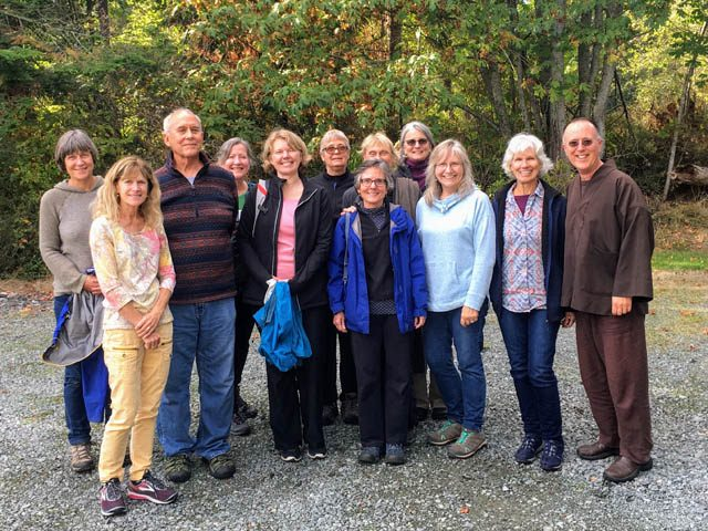 Anacortes Mindfulness Community members after a daylong retreat at the Island Sangha Zendo on Guemes Island, near Anacortes