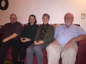 Bellevue Dharma attracts people from across the Eastside, including here Jack Barker, Ellen Cooper, Sharon Rodman and Dennis McCreery