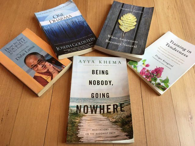 Reading material explored by the Lopez Island book sangha