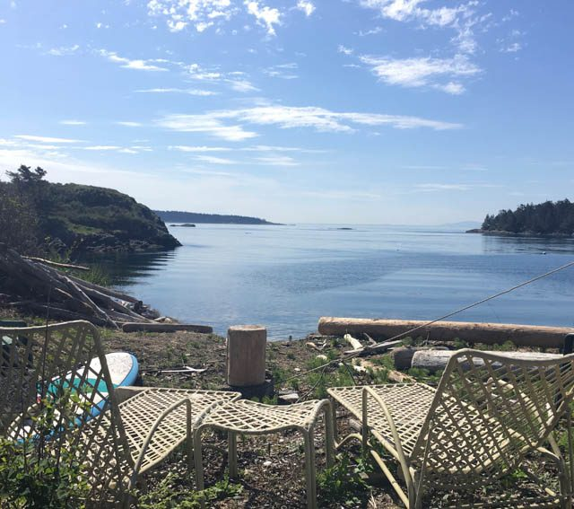 The beauty of Lopez Island and the waters surrounding it, is a great support for practice