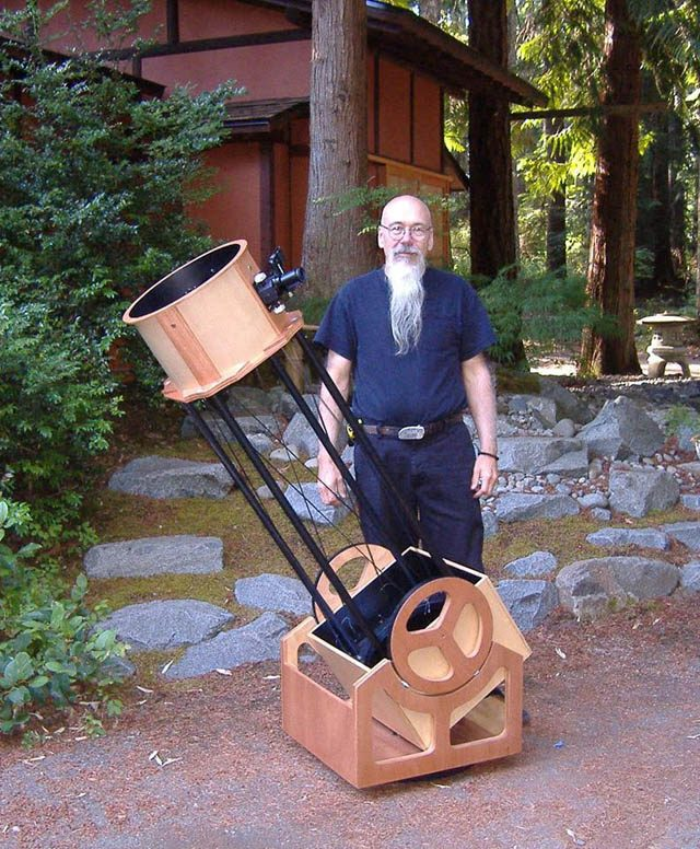 Miles and the string Dodsonian telescope he designed and built