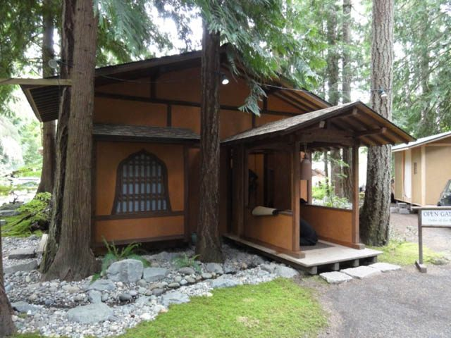 Open Gate Zendo, soon after Miles completed it, nestled among the cedars of his Olympia home
