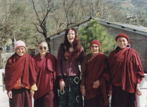 Caterina was the first English teacher for the first group of nuns that joined the nunnery in the days it was still based in Tashi Jong, northern India.