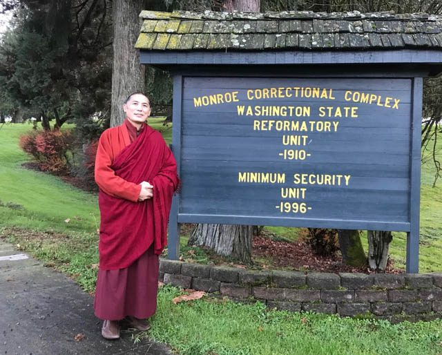 Kilung Rinpoche taught inmates of Monroe Correctional Complex in November, 2018