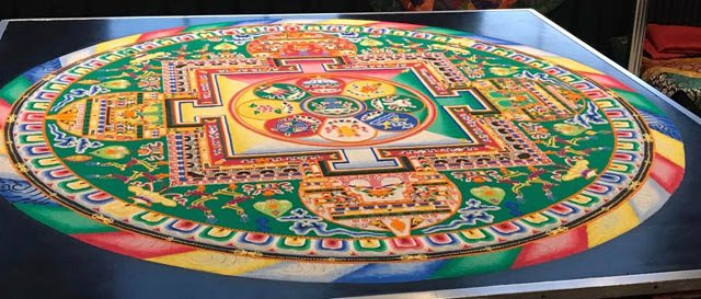 A beautiful sand mandala made available at the prison