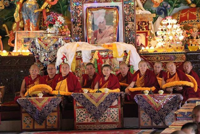 The 10 new geshemas who graduated, at a Nov. 5 ceremony at Kopan Nunnery in Nepal