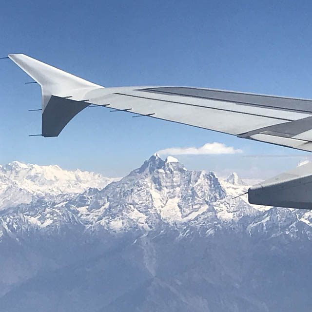 We could see Mt. Everest, during the flight from Kathmandu to Bhutan