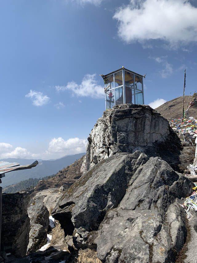 The Longchenpa statue in Bhumthang, Bhutan