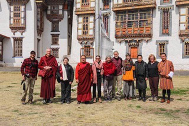 Bhutan Buddies at Jambay Lhakang, Bhutan