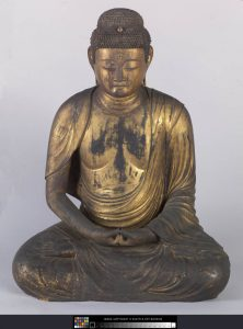 A 12th century Japanese Buddha statue, made of wood with gold lacquer, will face the entry. It was a gift of the Monsen family