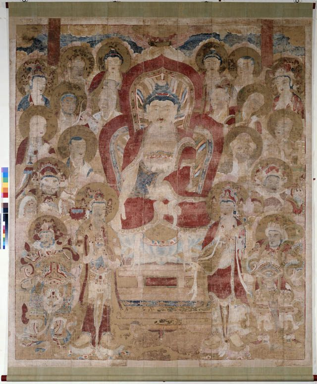 The entry wall will feature a 17th Century Korean preaching Buddha scroll, donated by the Eugene Fuller Memorial Collection