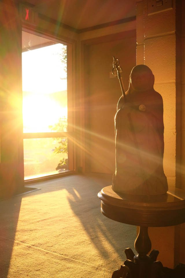 A statue of Jizo, a bodhisattva with special significance to Great Vow Zen Monastery