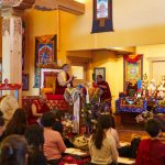 Dza Kilung Rinpoche presiding over the consecration of the temple