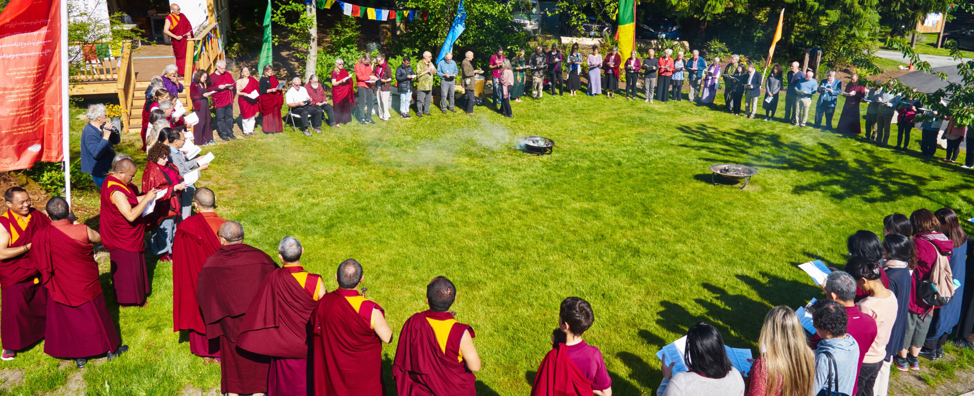 In late May people came from around the world to consecrate the new Phagtsok Gendun Choling Temple on Whidbey Island, the culmination of years of leadership and teaching by Tibetan Buddhist lama Kilung Rinpoche