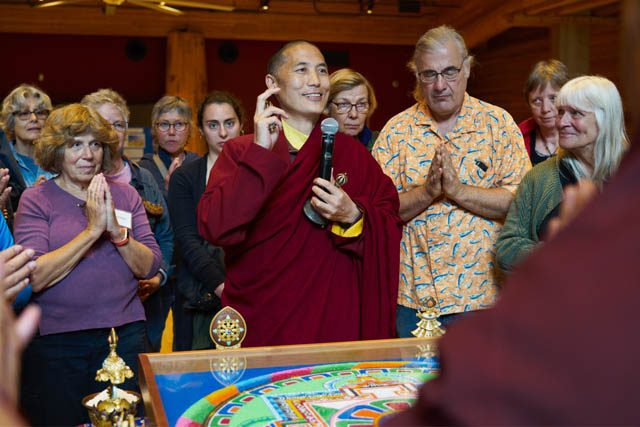 Dza Kilung Rinpoche explains the dissolution of the sand mandala