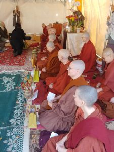 Bhikkunis from several California monasteries gathered for the Aloka Vihara 10th anniversary and kathina