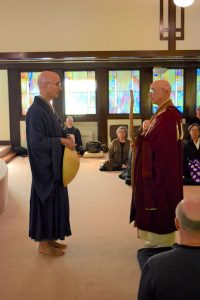 Rinzan Pechovnik Osho faces Genjo Marinello Roshi as the last Dharma gate for final questioning
