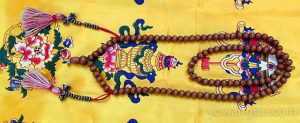 """Tibetan Buddhist malas are the """"abacus"""" of prayer beads. Each side tassel includes 10 extra beads, to help user count accumulations of mantra repetitions"""