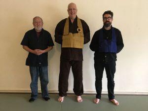One Pine Hall core members in 2018: John Nomura, Ryuzen Robby Pellett (founder), Jion Nat Evans