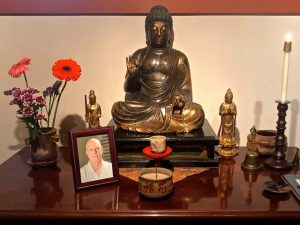 Memorial altar for Pellett at Choboji Temple in Seattle