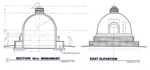 The plans for the peace pagoda, approved by Kitsap County and courtesy of local stupa architect John Paul Jones, who is native American