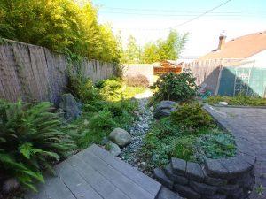 The Zen garden behind Red Cedar Zen
