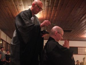 The 2013 ordination at Tassajara Zen Mountain Center, Tait with Zoketsu Norman Fischer