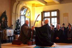 The 2019 shuso ceremony at San Francisco Zen Center, with Abbot Rinso Ed Sattizahn