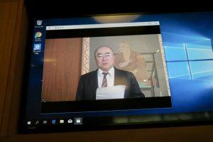 Video greetings from Prof. Ryunin Inui, president of Koyasan University