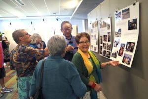 Visitors at the photo exhibition
