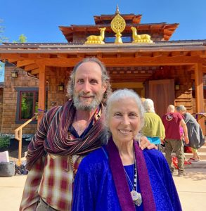 Michelle Levey and Joel Levey at the consecration of Kilung Rinpoche's new temple on Whidbey Island, close to Seattle