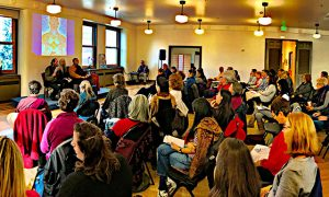 The Leveys and Kilung Rinpoche giving four immeasurables and bodhisattva teachings in Seattle