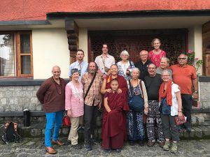 A Dharma Adventure visit to Dolma Ling Nunnery in Dharamsala, India, with Geshema Tenzin Kunsel and Joel, Michelle, and Sangha members