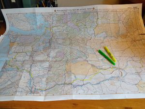 Bordeaux did a lot of route planning, including this map with pilgrimage route in yellow