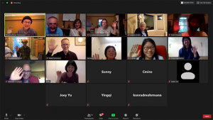 Hello from the virtual Dharma Drum Mountain Vancouver. Just a bunch of Chan practitioners from around the world hanging out