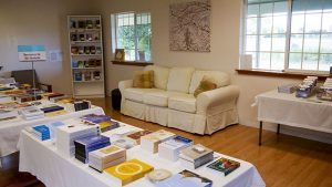 Visitors are welcome to relax and read at Paryiatti Books with cozy couches, tea, and plenty of Dhamma books