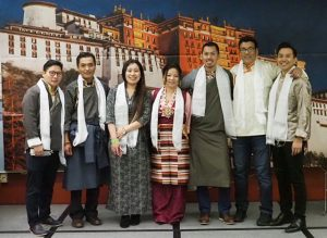 Tenzin Topchen, president of Tibetan Association of Washington, with his team of newly-elected board members